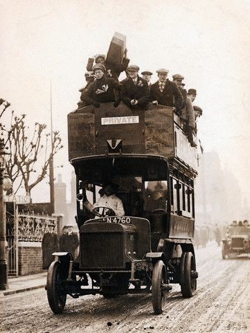 c.1905 early double decker bus from the UK