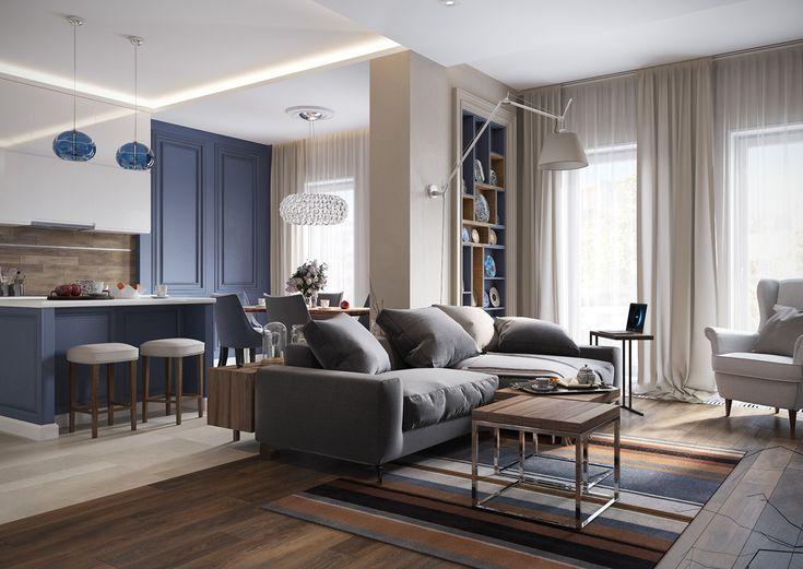 Un appartamento dai colori soft a San Pietroburgo - BLOG ARREDAMENTO