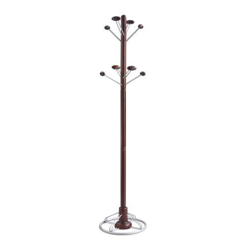Modern Costumer, Mahogany, Eight Hook, Wood/Steel by SAFCO (Catalog Category: Furniture & Accessories / Clothes Racks) by Safco. $143.10. Modern Costumer, Mahogany, Eight Hook, Wood/Steel by SAFCOWelcome your guests or your employees in style. The blend of wood and steel come together perfectly to provide a sleek design that will catch everyone's eye. Costumer features eight garment hooks with rounded edges. Mounting: Stand Alone; Width: 18 1/2 in; Depth: 18 1/2 in; He...