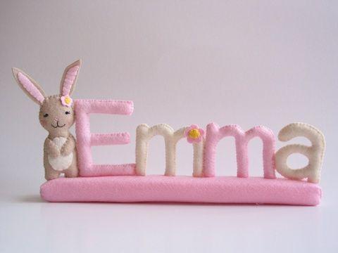 EMMA- filc névtábla, Otthon, lakberendezés, Dekoráció, Baba-mama-gyerek, Meska