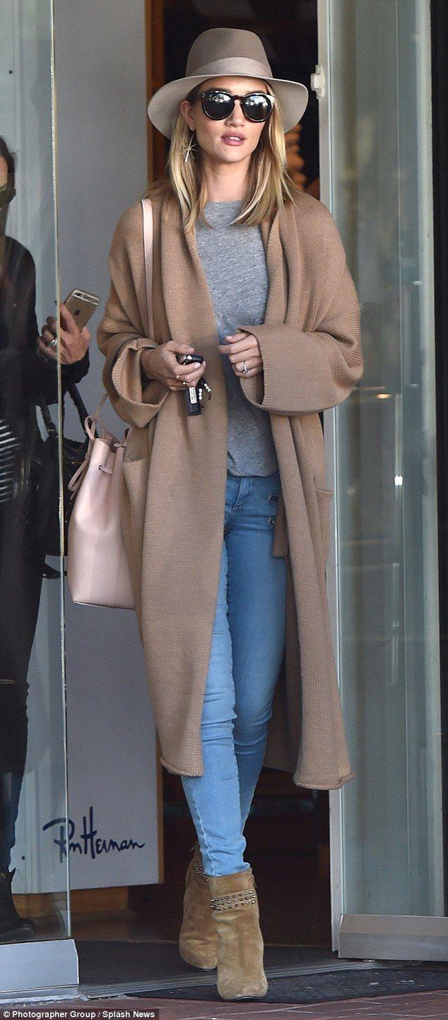 Rosie Huntington-Whiteley wearing the rag & bone Floppy Brim Fedora