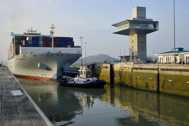 The MV Cosco Development is the largest ship to ever use the 102-year-old waterway. Photo credit: ACP / gCaptain