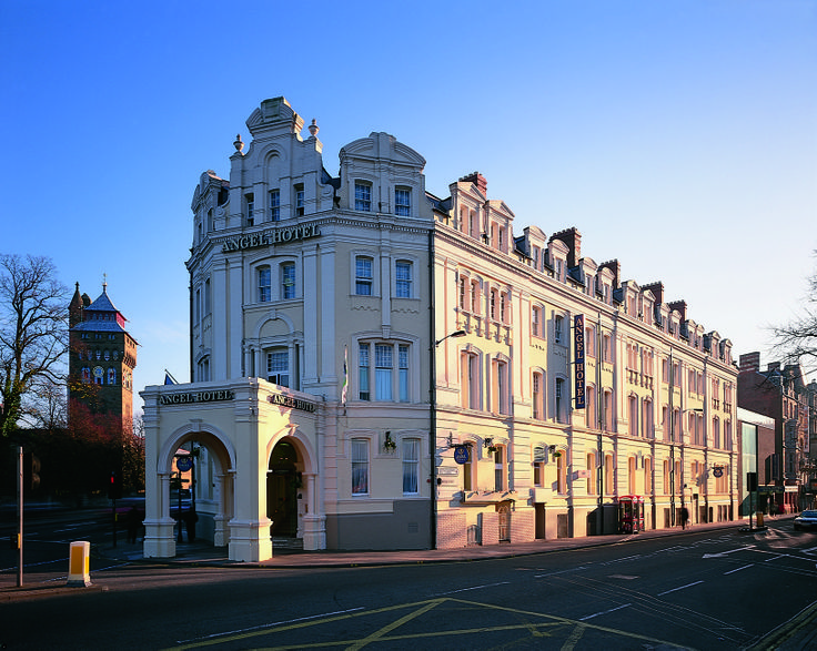 Begin and end your tour of Wales at the historic Angel Hotel, Cardiff