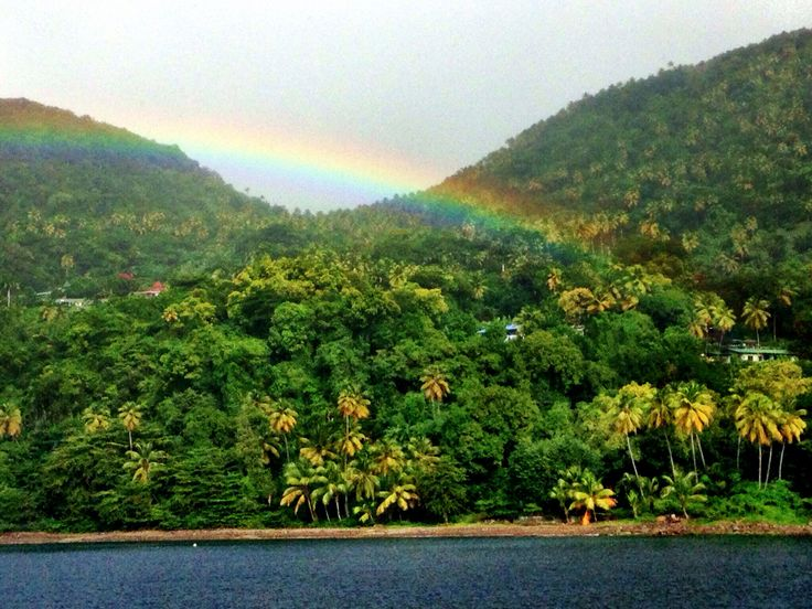 Nothing beats the rainbow after the rain in the Caribbean. #Superyacht #island #travel