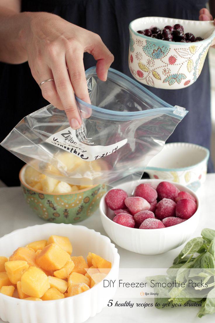DIY Freezer Smoothie Packs and Smoothie Recipes