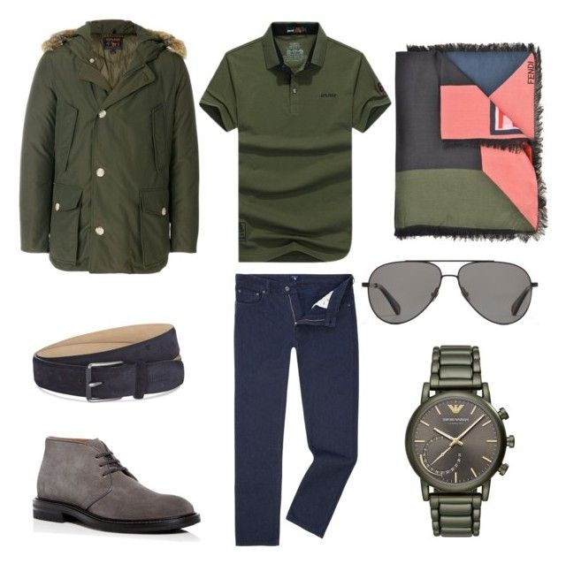 """Без названия #10"" by mariagavrina on Polyvore featuring GANT, AFS JEEP, Vilebrequin, Woolrich, Emporio Armani, Fendi, Armani Collezioni, Aquatalia by Marvin K., men's fashion и menswear"