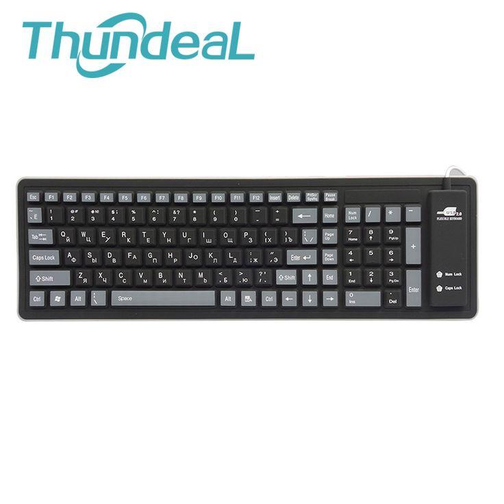 Newest Improved 103keys Russian keyboard letters Wire USB Interface silicon teclado layout keyboards teclado PC Desktop Laptop