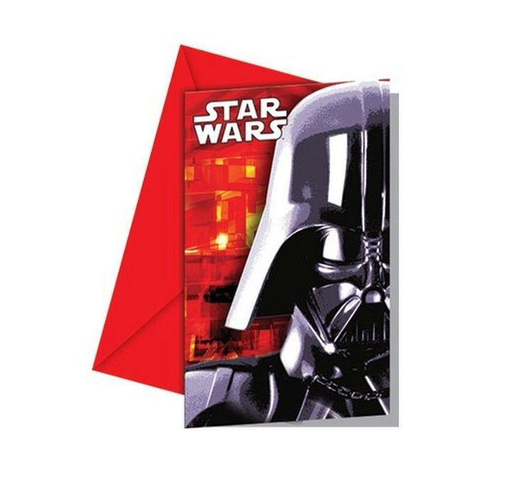 Star Wars Darth Vader uitnodigingen 6 st.