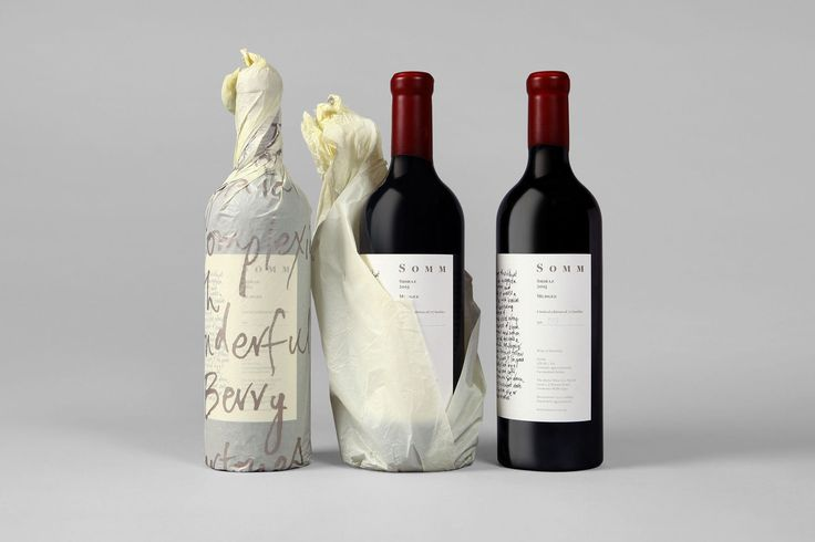 Label design and packaging by Sydney-based Frost for Niche Wine Co.'s limited edition release Somm, an Australian Shiraz