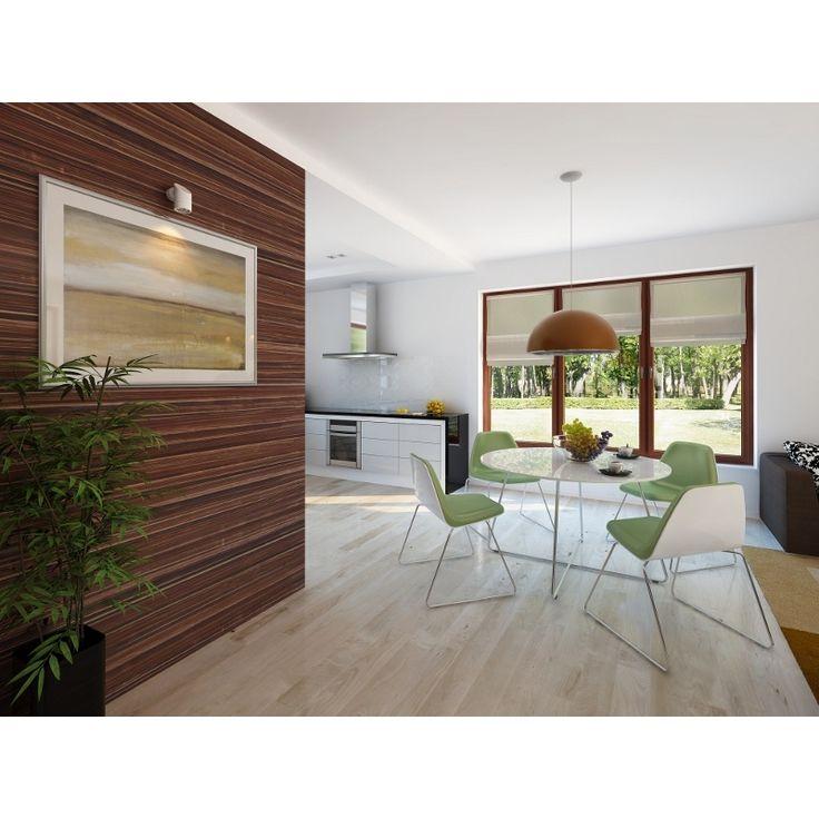 Prosta bryła z dwuspadowym dachem czyni dom łatwym w realizacji i tanim w użytkowaniu