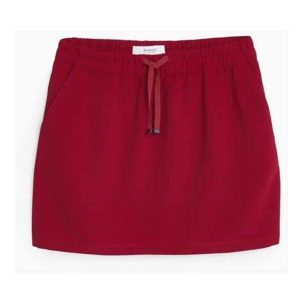 Smocked Waist Skirt (200 ZAR) ❤ liked on Polyvore