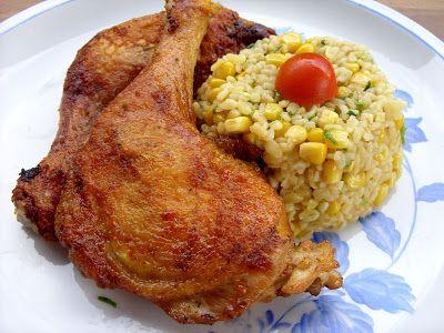 Csiperke blogja: Vasalt csirkecomb snidlinges-kukoricás bulgurral