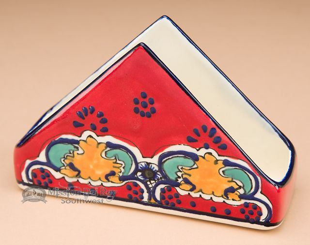 Mission Del Rey Southwest - Southwestern Painted Talavera Pottery - Napkin Holder (t32), $10.95 (http://www.missiondelrey.com/southwestern-painted-talavera-pottery-napkin-holder-t32/)