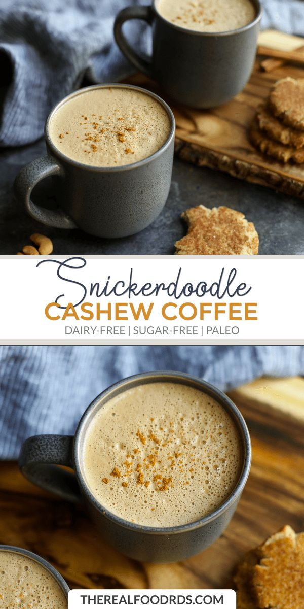 Snickerdoodle Cashew Coffee   – Clean eating {Whole 30 & Paleo}