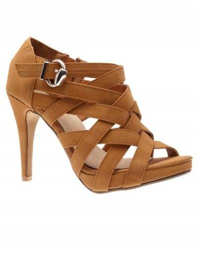 Chaussures femme Bestelle: Escarpin ouvert camel | Modress