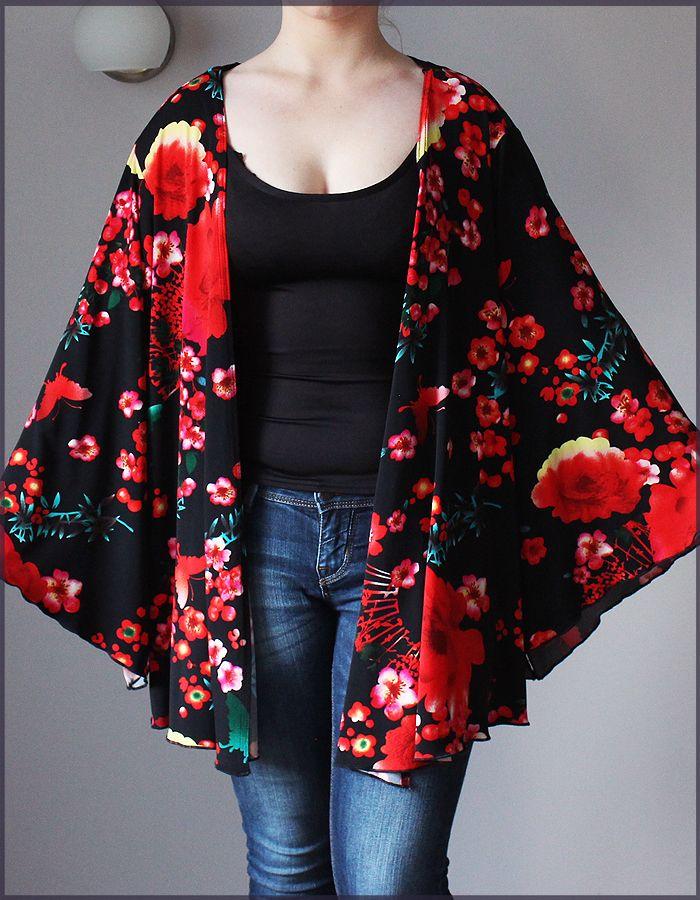 Joanna Hope Piekne Obszerne Ponczo Lekka Narzutka 7090154949 Oficjalne Archiwum Allegro Fashion Kimono Top Moda Boho