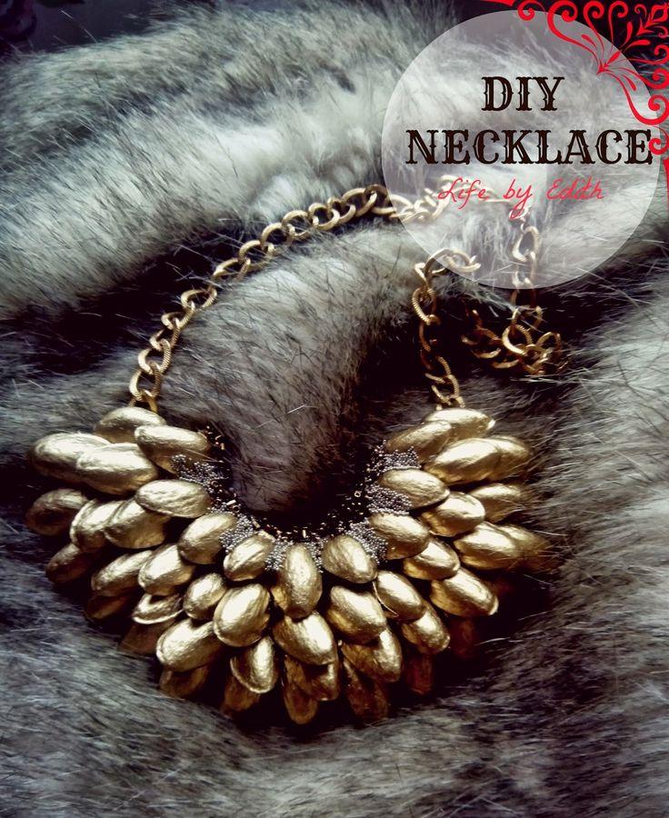 MY D.I.Y. | Pistachio shells necklace                                        http://lifebyedith.blogspot.co.uk/?m=1
