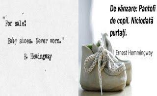 diane.ro: Hemingway: Cea mai scurtă povestire din lume?