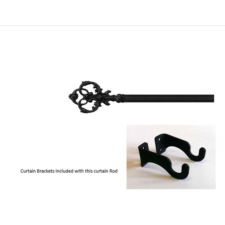 Victorian Curtain Rod - SM (Hardware is Included) (Hardware is Included)