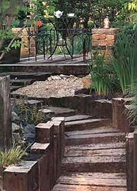 Rail Road Ties landscaping - Google Search