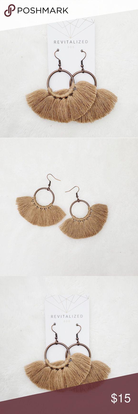 Kreis Quaste Fringe Ohrringe Kreis Quaste Fringe Ohrringe 1 Paar Neu in der Verpackung …