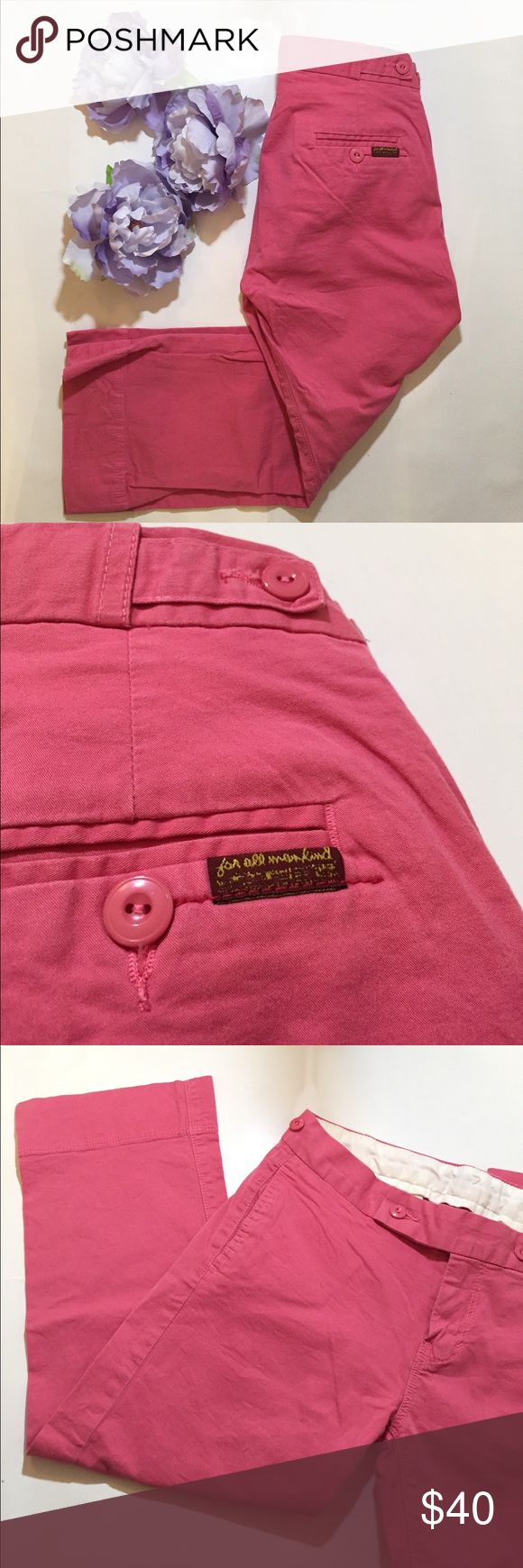 7 for all mankind coral capris 7 for all mankind coral capris / gently worn twice 7 For All Mankind Pants Capris