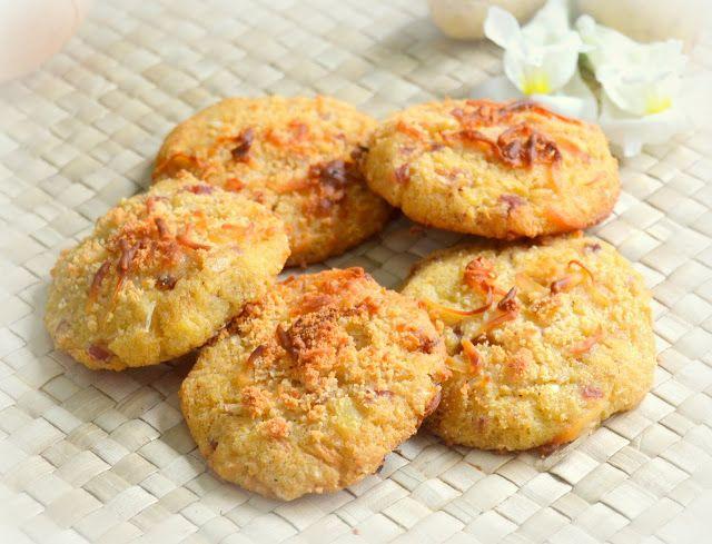 Cookies de queso, patata y cebolla