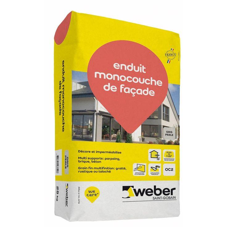 Enduit Monocouche De Facade Gris Perle Weber 25 Kg Weber Saint Gobain En 2019 Monocouche Gris Perle Et Enduit