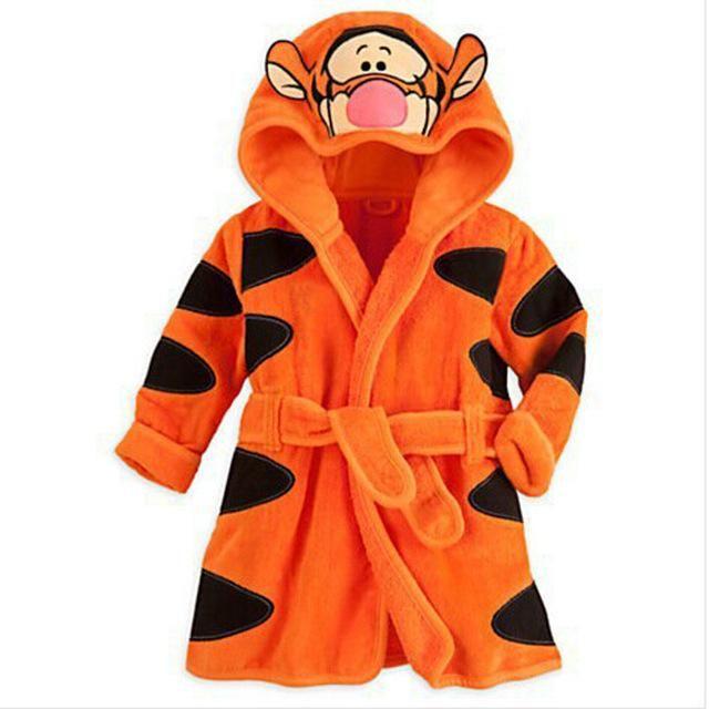 58f9c482de Children s Baby Boys Robe For Girls bathrobe Cartoon Soft Velvet Robe  Pajamas Coral Baby Kids Warm Clothes