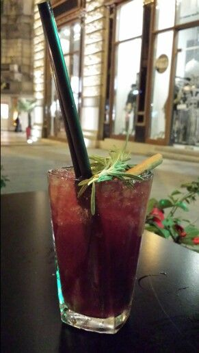 A Taste of Darkness. Great drink at the Buddha Bar in Budapest.