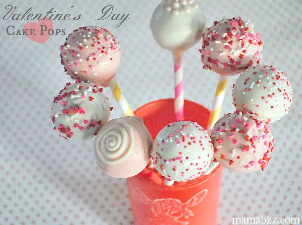 Valentine's Day Cake Pops from MamaBuzz