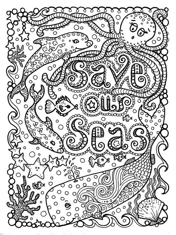 Save Our Seas Digital Coloring Etsy Earth Day Coloring Pages Coloring Pages Coloring Books