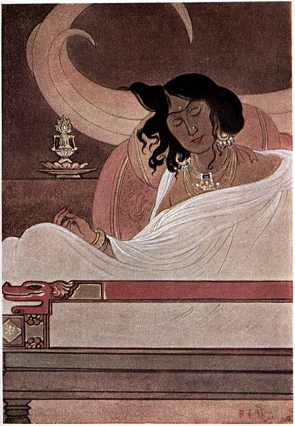 """Illustration by Abanindranath Tagore from """"Myths of the Hindus & Buddhists"""" (1914) via Wikimedia Commons."""