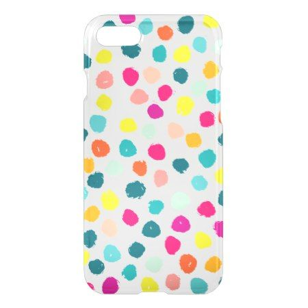 Sketchy Happy Color Dots iPhone 7 Case - tap to personalize and get yours