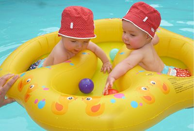 double pool float, twin pool float, pool float for twins,