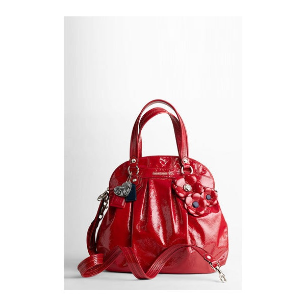 COACH POPPY PATENT WITH FLOWER LARGE HIGHLIGHT | Nordstrom found on Polyvore: Coach Poppy, Coach Poppies