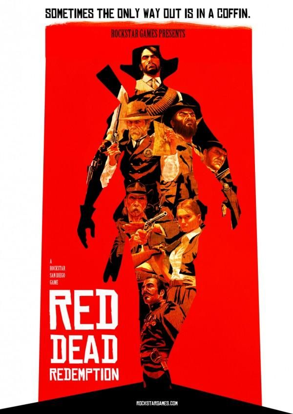 Red Dead Redemption Poster by Filthymonkey.