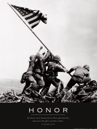 Honor.Courage.Commitment.Integrity ~ Just to name a few.  We could all learn a lesson or two