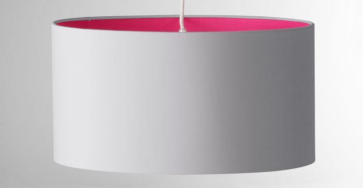 May Medium Pendant Shade, Neon Pink
