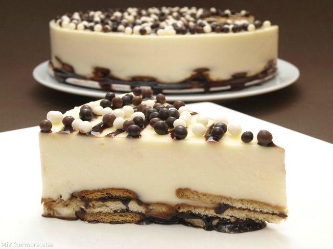 Tarta de chocolate blanco - MisThermorecetas