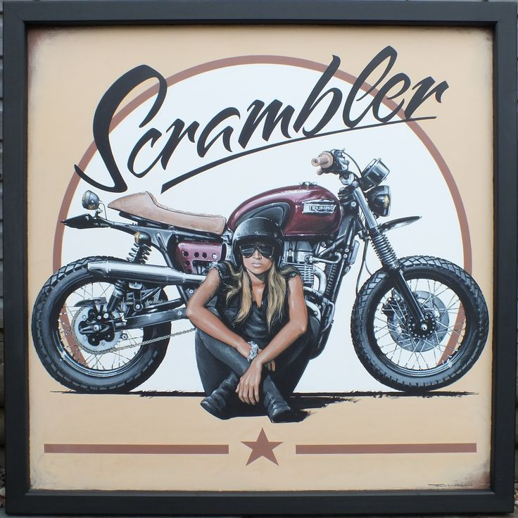 Acrylic on sheet metal Scrambler