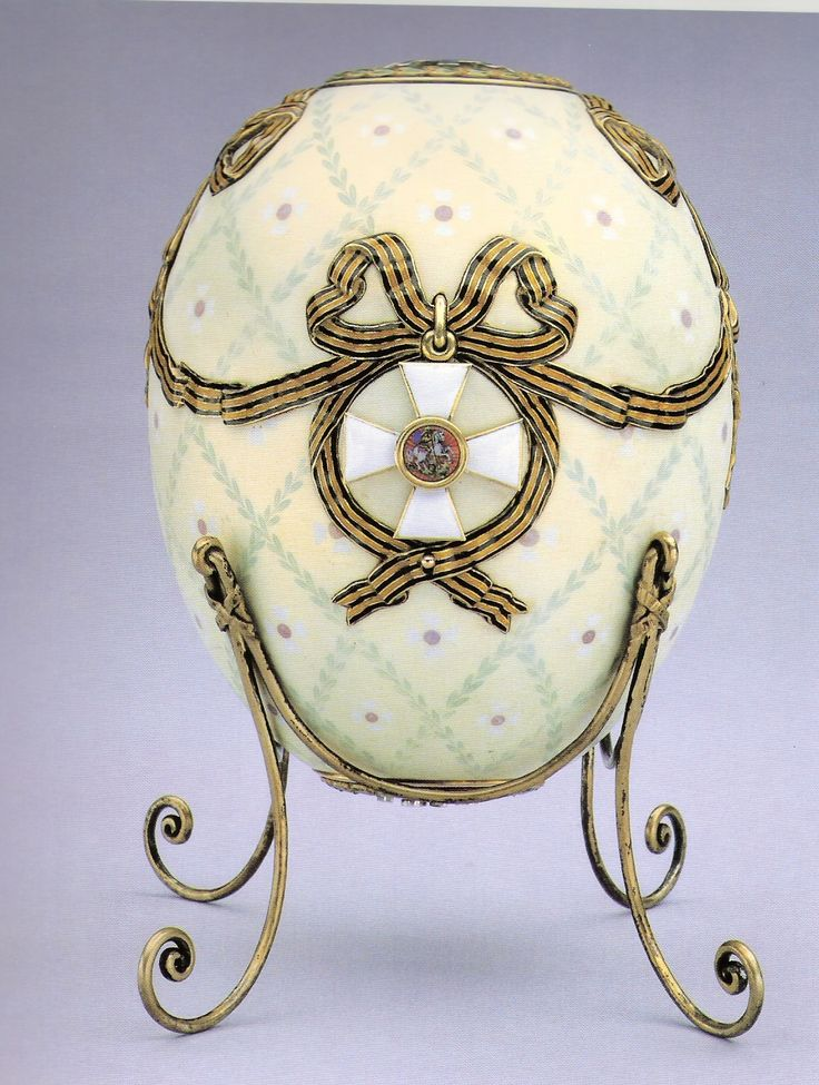 """.Faberge Egg 1916 - """"Cross of St. George Egg"""". Given to Maria from her son. Currently in Russia"""