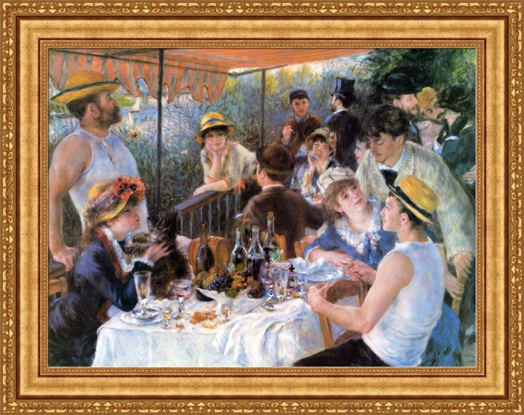 """Pierre Auguste Renoir The Luncheon of the Boating Party 34.5""""x27"""" (V07-35)   eBay"""