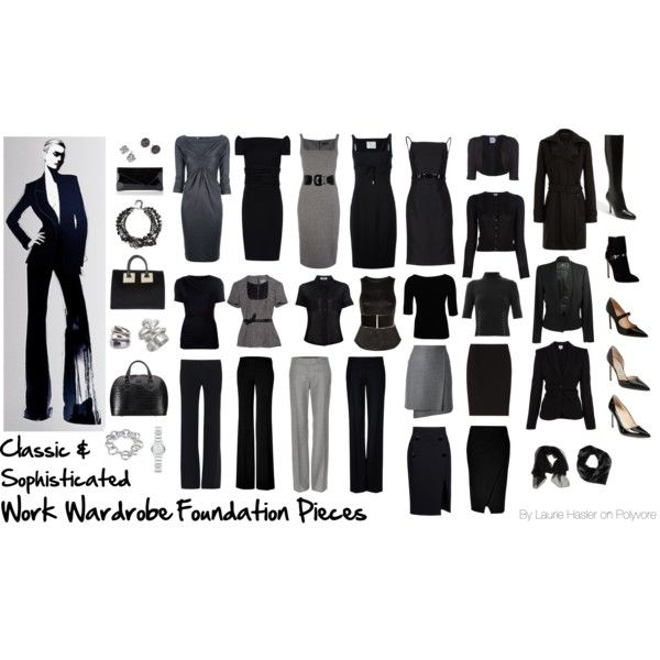 """Work Wardrobe Foundation Pieces: Classic & Sophisticated"" by lauriehasler on Polyvore"