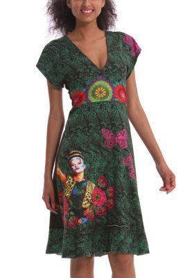 Desigual women's Diez dress from the Cirque du Soleil range with an oriental-style cut.