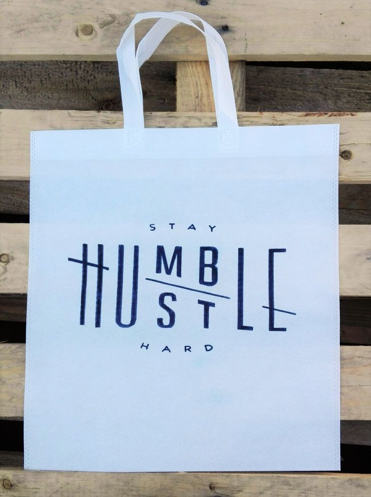 Stay Humble, Hustle Hard Woven Tote :)