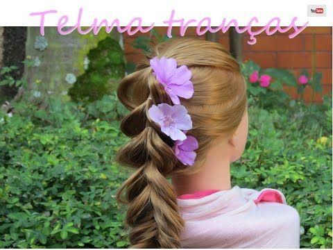 Trança Ciclame (ر, 发型, 땋은 머리, 헤어 스타일, ヘアスタイル, ถักเปีย, ทรงผม, örgü) #telmatranças - YouTube