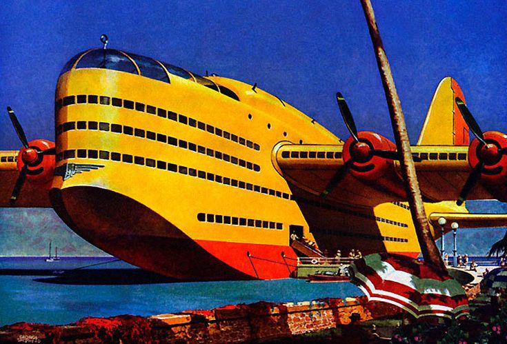 A Flying Cruise Ship | Futureu0026#39;s Past (aka Retro Futurism) | Pinterest | Iron Man Planes And ...