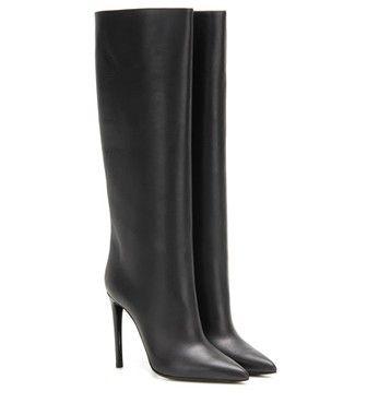Balenciaga - Leather boots - mytheresa.com