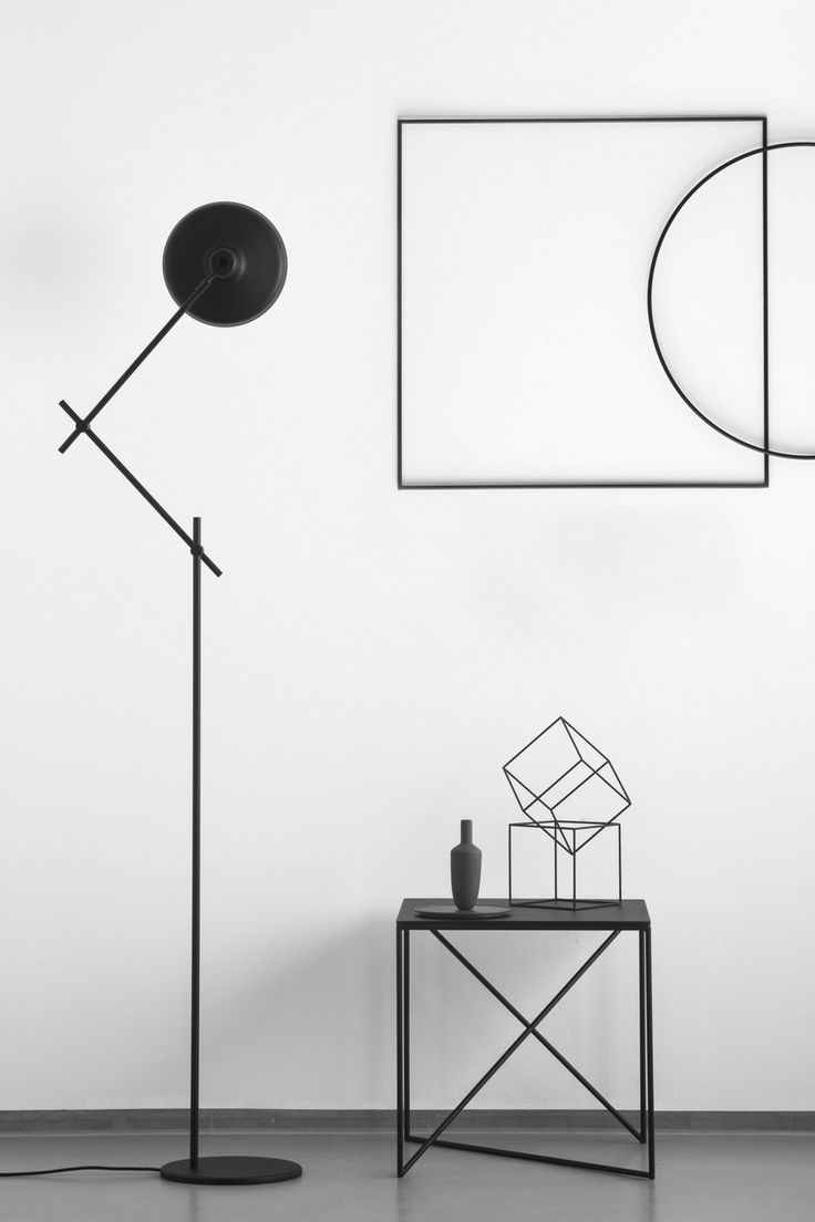 Adjustable steel floor lamp AR-F by Grupaproducts